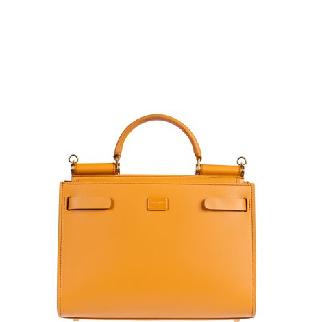 yellow leather small sicily 62 hand bag