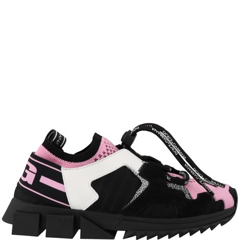 black and pink sorrento trekking sneakers