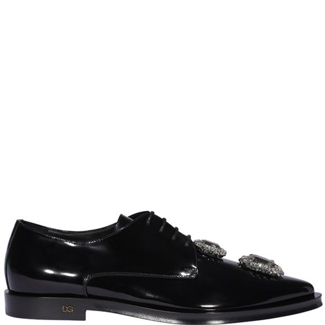 black embellished leather derby
