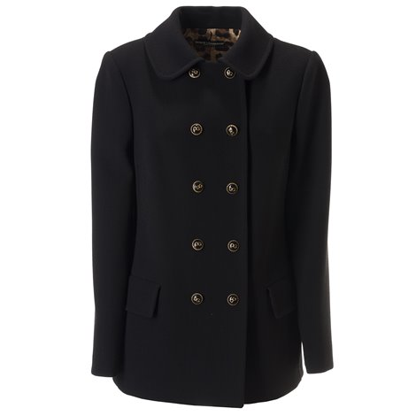 black wool blend coat