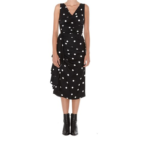 black polka dotted dress