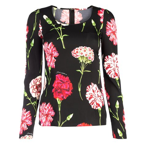 DOLCE & GABBANA TOP WITH SLEEVES