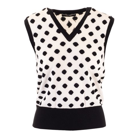 top in cashmere a pois