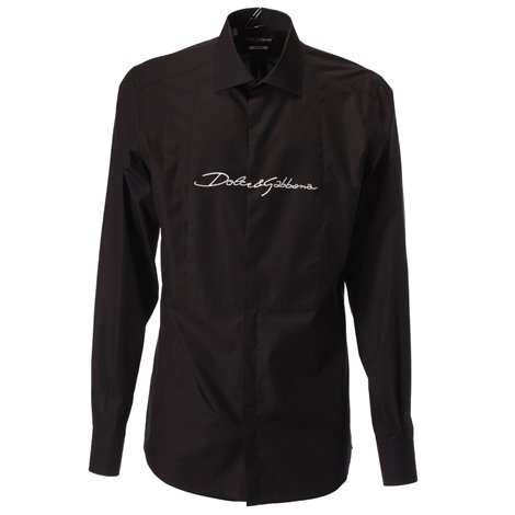 logo embroidered cotton shirt