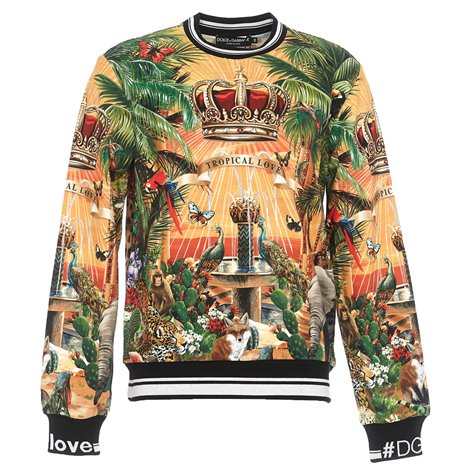 tropical love printed sweatshirt
