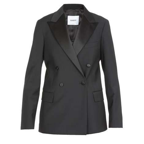 blend wool double-breasted jacket