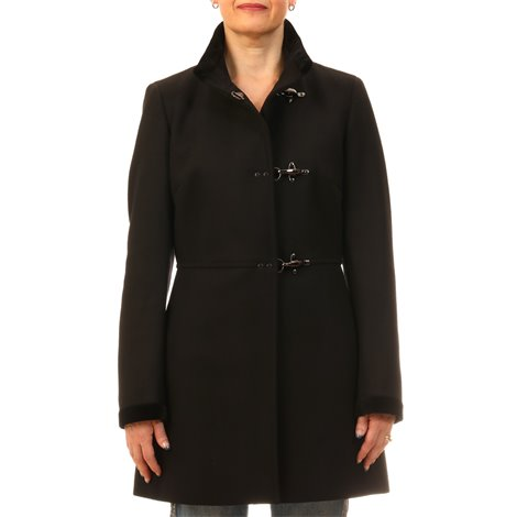 black virgin wool coat