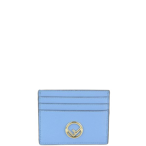 pale blue leather card holder
