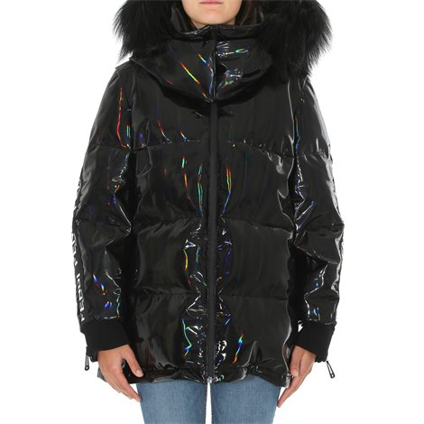 hologram effect down jacket