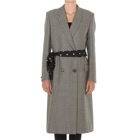 wool belted coat