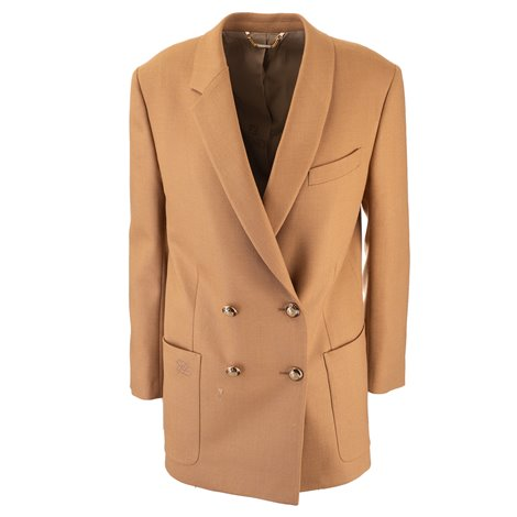 camel double breasted jacket