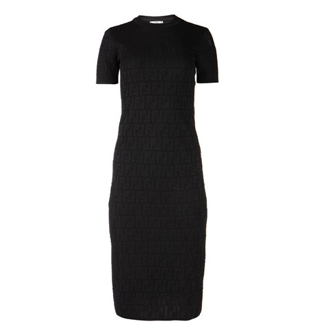 black stretch cotton dress