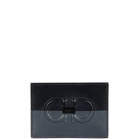 black and blue wallet