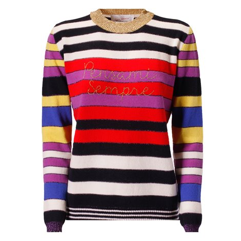 'pensami sempre' color-block cashmere sweater