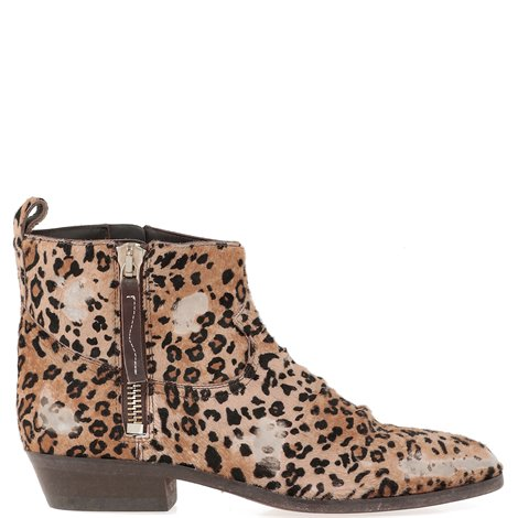 animalier calfhair ankle boot