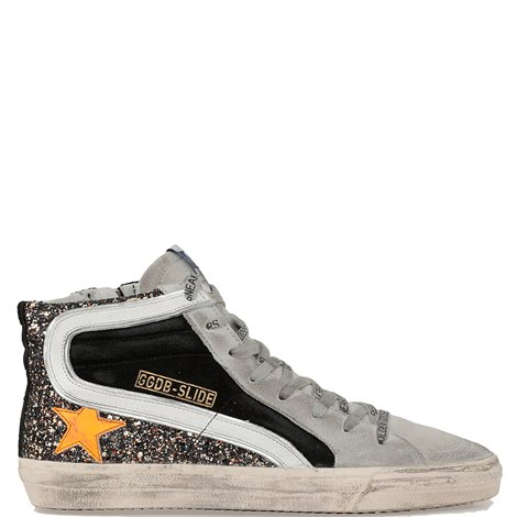 suede and glitter sneakers