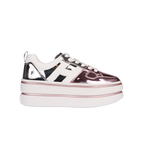 pink and silver  leather h449 sneakers