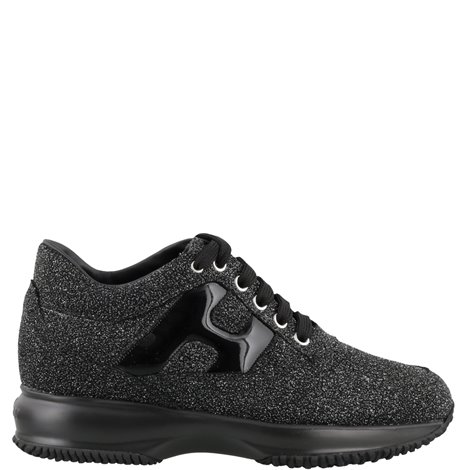 black and silver glittered sneakers