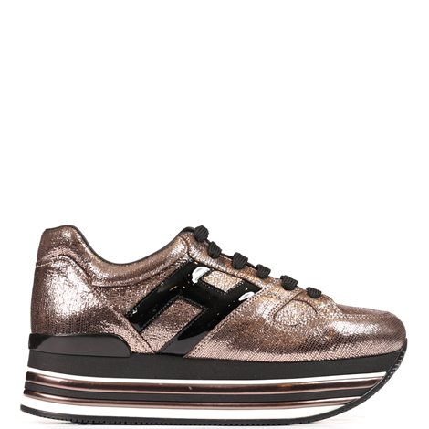 sneakers  h473 in pelle metallizzata