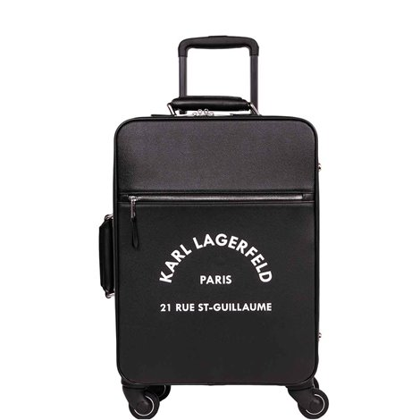 black fabric suitcase