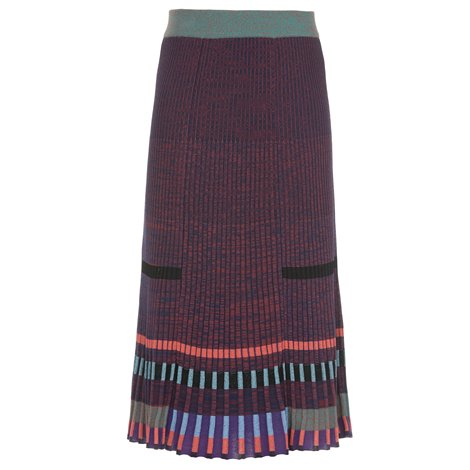 multicolor knitted skirt