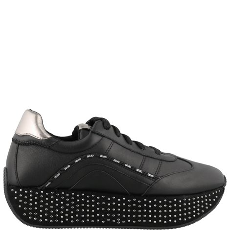 black leather hilary  sneakers