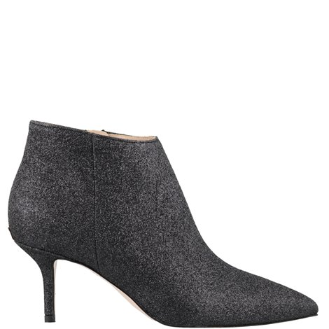 black glittered  ankle boot