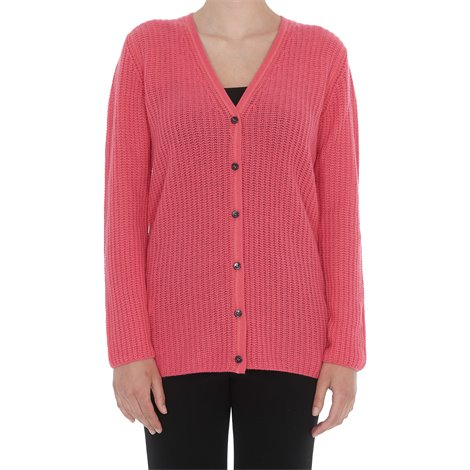 cardigan rosa in cashmere