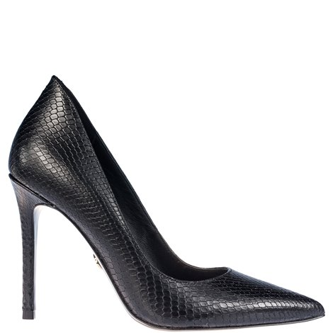 reptile effect leather pumps