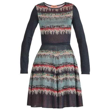 multicolor knitted dress