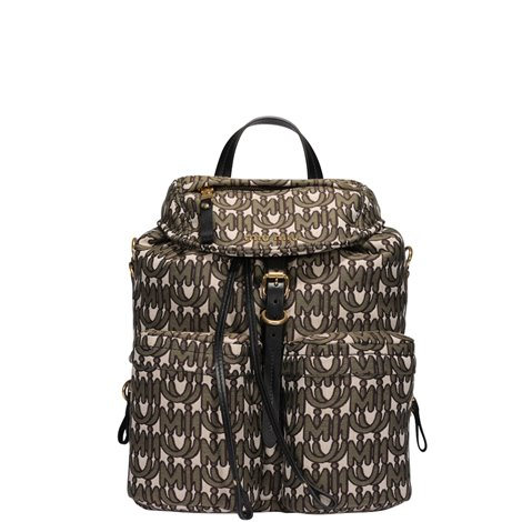 logoed fabric backpack