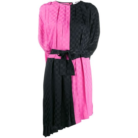 black and fuchsia dress