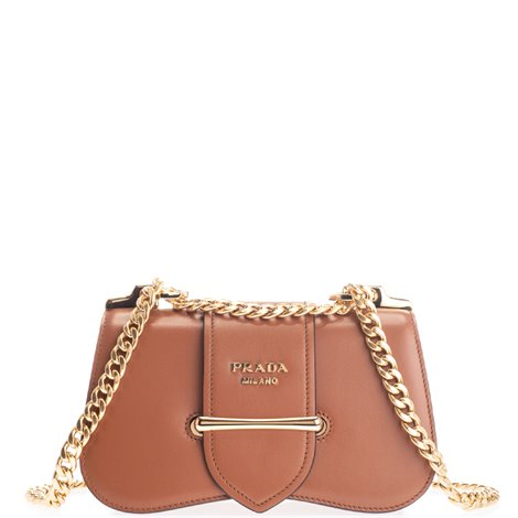 leather logoed bag