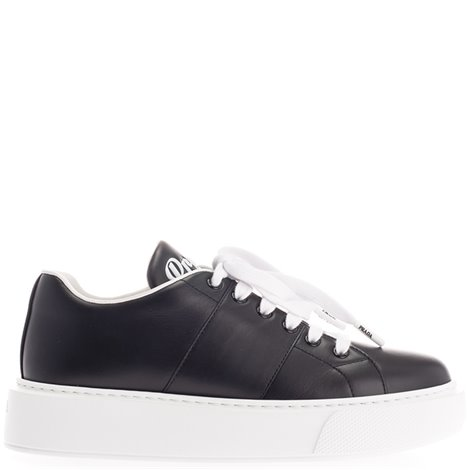 black logoed sneakers