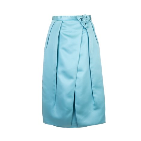 light blue skirt