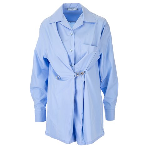 light blue shirt with hook detail