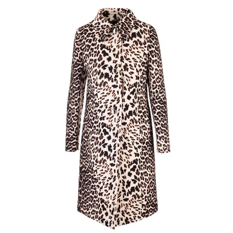 spotted virgin wool coat