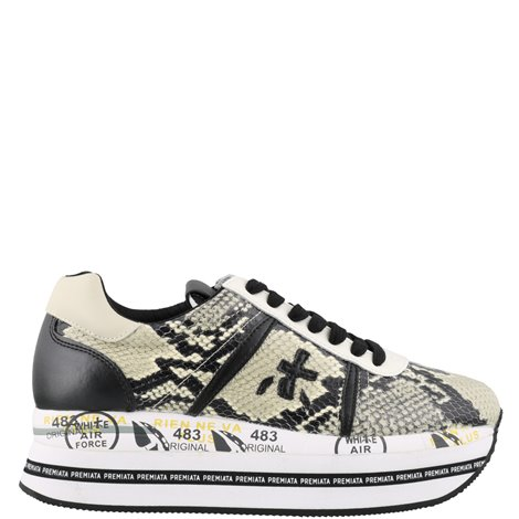 white silver and black leather h449 sneakers