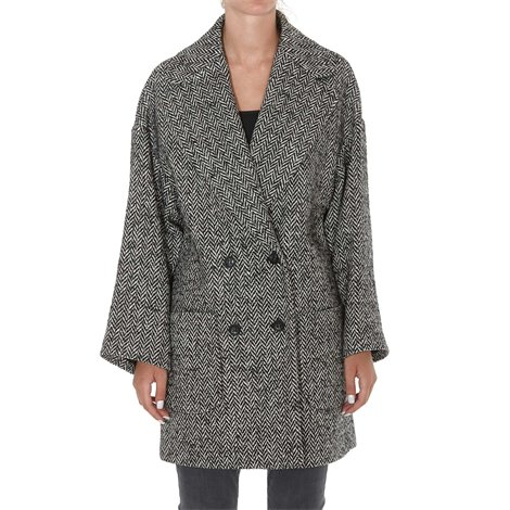 cappotto in lana stampa animalier