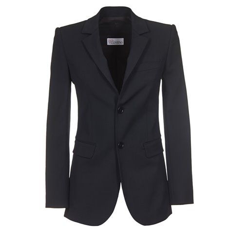 black wool blend blazer jacket