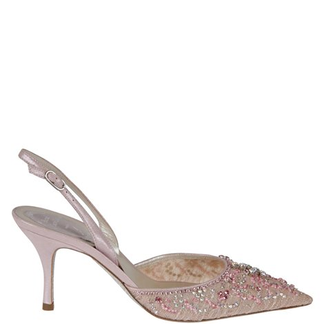 embroidered slingback