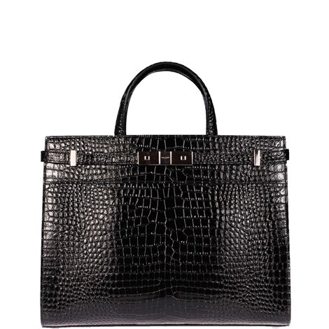 black leather sac de jour  tote bag