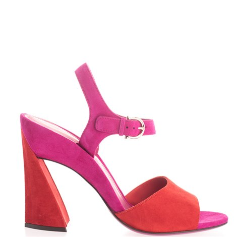 105mm two coloured suede sandals