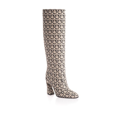 reptile print leather boots