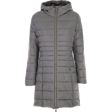 hooded down jacket with zip