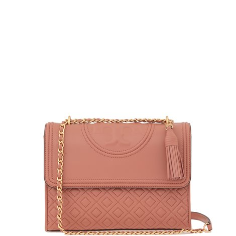 pink quilted  leather shoulder bag