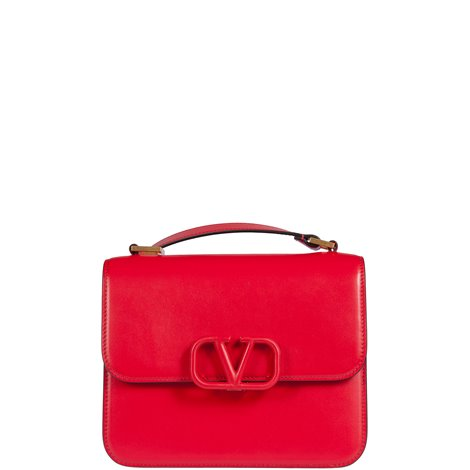 red leather small vsling crossbody
