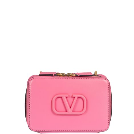 pink leather small vsling  crossbody