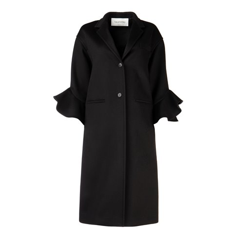 frilled overcoat