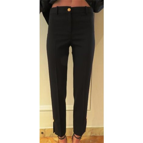 black elegant wool pants